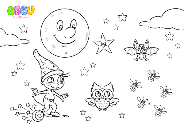 Aggu Twinkle Little Star coloring page thumbnail