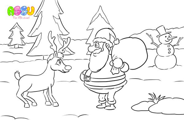 Aggu Rudolph The Red-Nosed Reindeer coloring page thumbnail