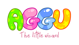 Aggu the little Wizard logo