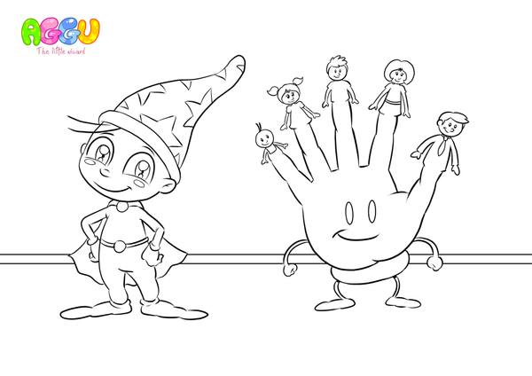 Aggu Finger Family coloring page thumbnail